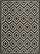 Safavieh Courtyard CY6902266 Black and Beige