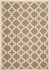 Safavieh Courtyard CY6913-242 Brown and Bone