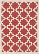 Safavieh Courtyard CY6913-248 Red and Bone
