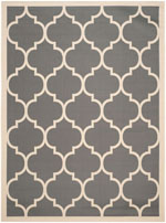 Safavieh Courtyard CY6914246 Anthracite and Beige