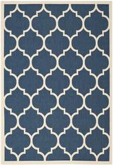 Safavieh Courtyard CY6914-268 Navy and Beige