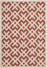 Safavieh Courtyard CY6915-238 Red and Bone