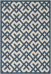 Safavieh Courtyard CY6915-268 Navy and Beige