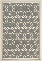 Safavieh Courtyard CY6916-246 Anthracite and Beige