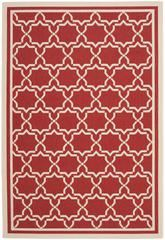 Safavieh Courtyard CY6916-248 Red and Bone