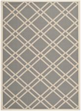 Safavieh Courtyard CY6923-246 Anthracite and Beige