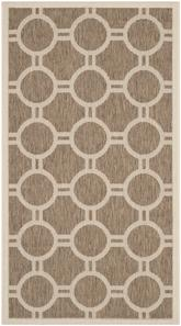 Safavieh Courtyard CY6924-242 Brown and Bone