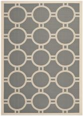 Safavieh Courtyard CY6924-246 Anthracite and Beige