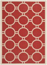 Safavieh Courtyard CY6924-248 Red and Bone