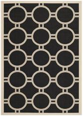 Safavieh Courtyard CY6924-266 Black and Beige