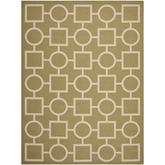 Safavieh Courtyard CY6925244 Green and Beige