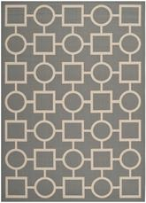 Safavieh Courtyard CY6925-246 Anthracite and Beige