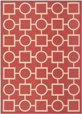 Safavieh Courtyard CY6925-248 Red and Bone
