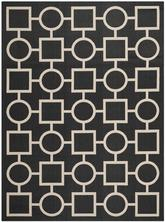 Safavieh Courtyard CY6925-266 Black and Beige