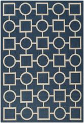 Safavieh Courtyard CY6925-268 Navy and Beige