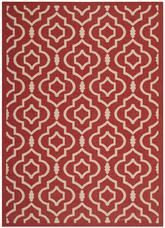 Safavieh Courtyard CY6926-248 Red and Bone
