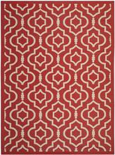 Safavieh Courtyard CY6926248 Red and Bone