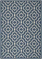 Safavieh Courtyard CY6926-268 Navy and Beige