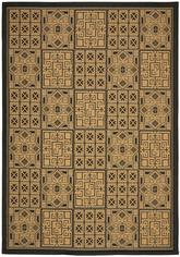 Safavieh Courtyard CY6947-46 Black and Natural