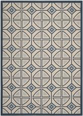 Safavieh Courtyard CY7017-258 Beige and Navy