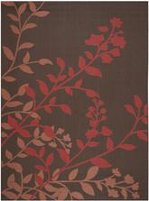 Safavieh Courtyard CY7019303 Chocolate and Red
