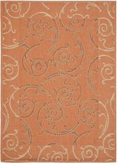 Safavieh Courtyard CY7108-21A7 Terracotta and Cream
