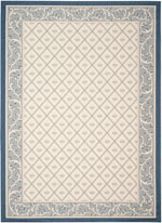 Safavieh Courtyard CY7427258A22 Beige and Navy