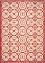 Safavieh Courtyard CY747623812 Beige and Red