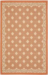 Safavieh Courtyard CY7810-21A7 Terracotta and Cream