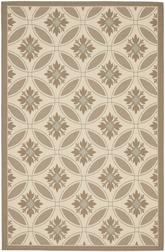 Safavieh Courtyard CY7844-79A18 Beige and Dark Beig