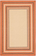 Safavieh Courtyard CY789611A7 Cream and Terracotta