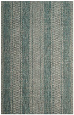Safavieh Courtyard CY873637212 Light Grey and Teal