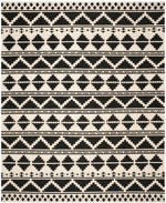 Safavieh Dhurries DHU110A Black and Ivory