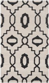 Safavieh Dhurries DHU205A Ivory and Black