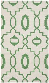 Safavieh Dhurries DHU205B Ivory and Green