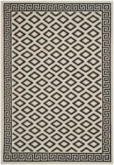 Safavieh Dhurries DHU411A Ivory and Black