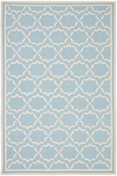 Safavieh Dhurries DHU545B Light Blue and Ivory