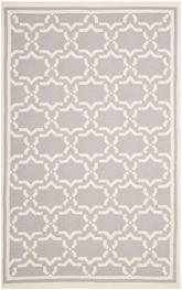 Safavieh Dhurries DHU545G Grey and Ivory