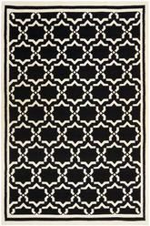 Safavieh Dhurries DHU545L Black and Ivory