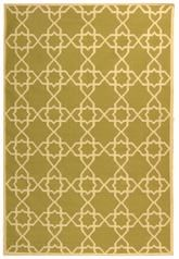 Safavieh Dhurries DHU548A Olive and Ivory