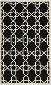 Safavieh Dhurries DHU548L Black and Ivory