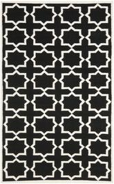 Safavieh Dhurries DHU549L Black and Ivory