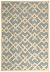Safavieh Dhurries DHU552B Light Blue and Ivory