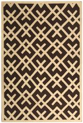 Safavieh Dhurries DHU552C Brown and Ivory