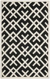 Safavieh Dhurries DHU552L Black and Ivory