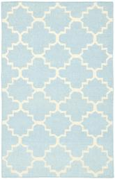Safavieh Dhurries DHU554B Light Blue and Ivory