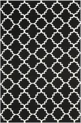 Safavieh Dhurries DHU554L Black and Ivory
