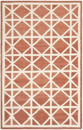 Safavieh Dhurries DHU558A Red and Ivory
