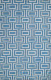 Safavieh Dhurries DHU562A Light Blue and Ivory