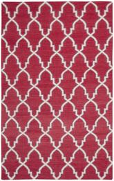 Safavieh Dhurries DHU564A Red and Ivory